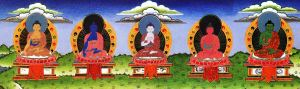 ratnasambhava-akshobhya-vairochana-amitabha-amoghasiddhi-5-dhyani-buddhas