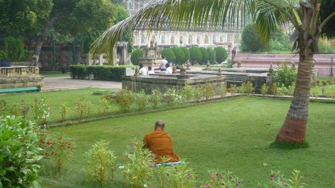Meditating in Bodhgaya  foto : Jampa 2011